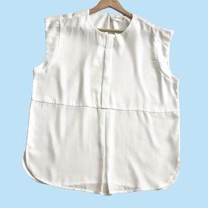 Gaudi White Pleated Blouse XL